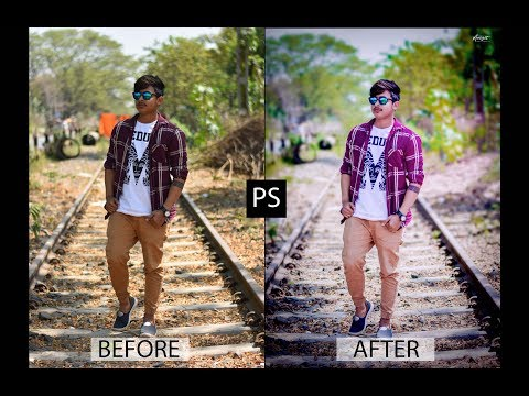 Photoshop cc tutorial 2018 : How to edit outdoor portrait photo | Retouch outdoor photo | lens flare