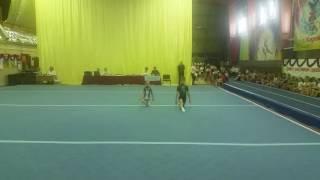 Соревнование по спортивной акробатике. 2 юношеский разряд. 1 упражнение