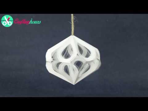 DIY Christmas Party Decorations | Paper 3D Diamond Crafts Tutorial