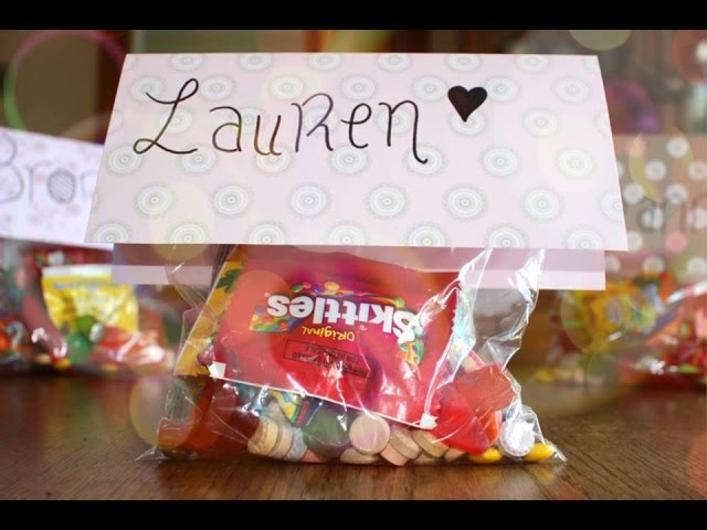 Diy Easy Candy Gift Bags Party Ideas Haley Canter Youtube