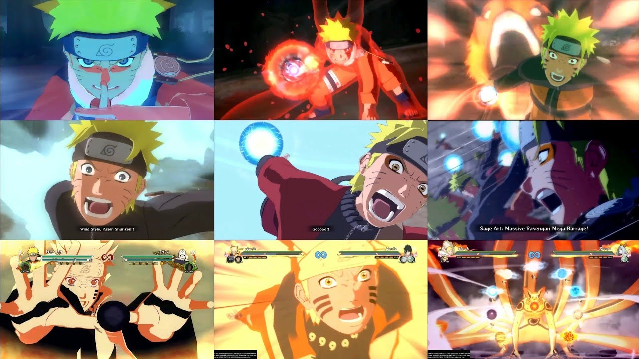All Ultimate Jutsu In Naruto Storm Series(Ultimate Jutsu Evolution)