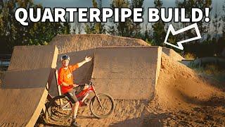 Quarterpipe BUILD and RIDE!