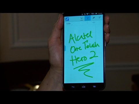Look out, Note 4. Alcatel's Hero 2 has a stylus, too