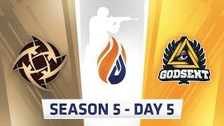 ECS Season 5 Day 5 - NIP vs Godsent