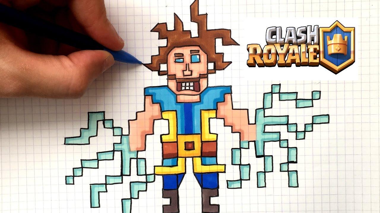Draw Electro Wizard Pixel Art Clash Royale