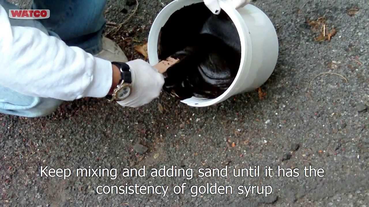How To Repair Asphalt Cracks Watco 174 Asphalt Crack Filler