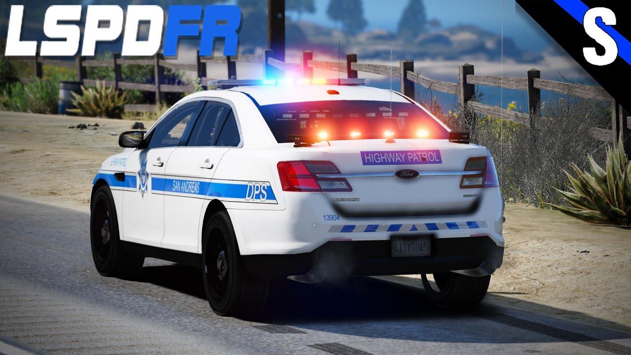 Gta V Lspdfr  183 San Andreas Highway Patrol Ford Taurus