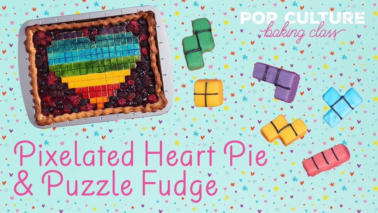 Pixel Slab Pie and Tetris Fudge | Genius Kitchen - YouTube