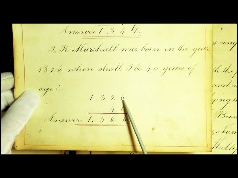 98. 19th Century School Book (with Pointer) - SOUNDsculptures (ASMR)