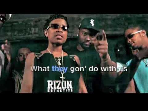 Lil bibby- You ain't Gang (remix) ftLil Durk, Dej loaf, Kevin Gates [Lyrics Video]