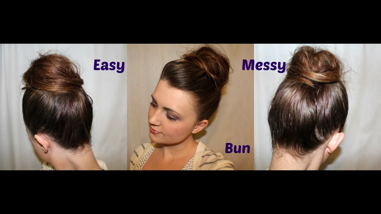 Cute Easy Messy Bun Hairstyle Tutorial For Medium To Long Hair [Collab With  Makeupwearables]   YouTube