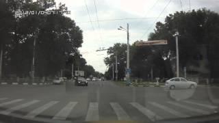 Армавир ул Тургенева - Кирова красный свет светофора