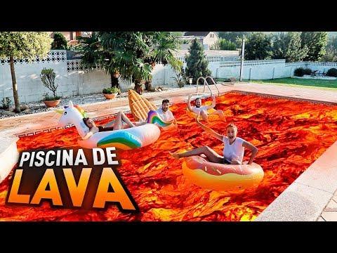 LA PISCINA ES LAVA!! BATALLA DE FORTNITE CON FLOTADORES   FatiVázquez