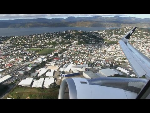 Air New Zealand A320 Takeoff Wellington