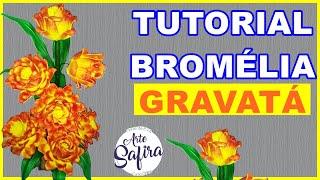FLOR BROMÉLIA GRAVATÁ DE E V A