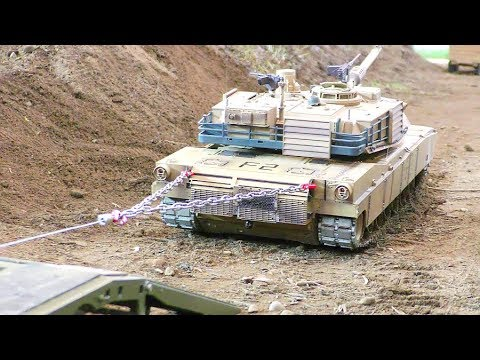 RC ABRAMS TANK RESCUE! Cool RC action! Amazing rc tanks! Strong Morooka T800