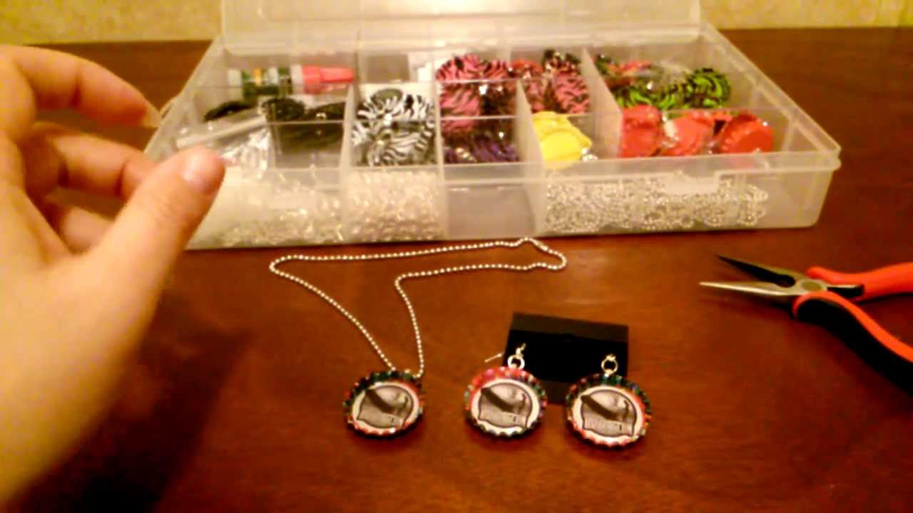 How to make bottle cap earrings diy tutorial by shopbgd for What can i make with bottle caps