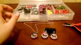 How to make Bottle Cap Earrings DIY (tutorial) by shopbgd.com