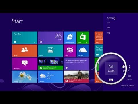 como conectar wifi o red inalambrica en windows 8 Part.1 - YouTube