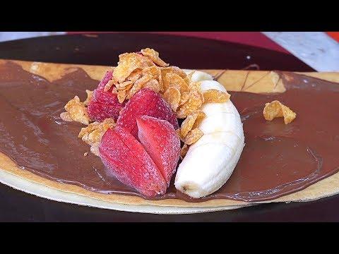 Papa's Crepes, Ice cream Crepe (Strawberry+Banana) – Korean Street Food / 동대문 할부지 크레페 근황