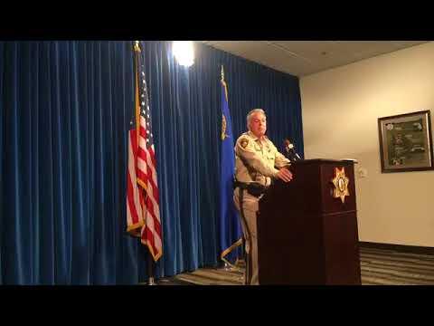 Clark County Sheriff Joe Lombardo updates media on the Oct. 1 shooting