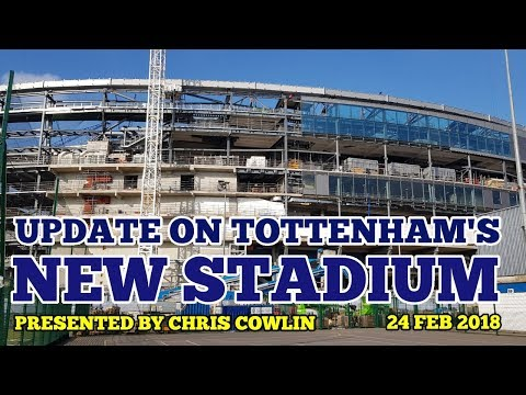UPDATE ON TOTTENHAM'S NEW STADIUM: News on the Roof Lift, Tiles, West Stand: 24 February 2018