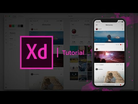 Create a Social Media App - (Design & Prototype) Adobe Xd Tutorial