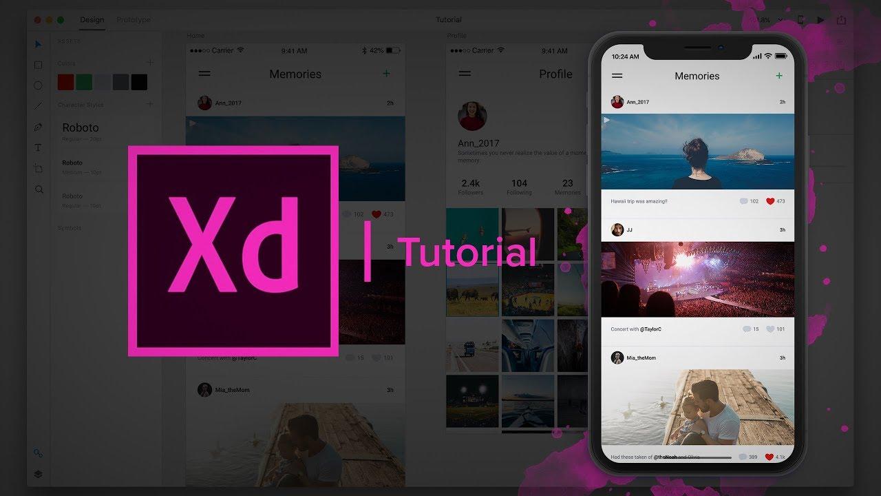 Create a Social Media App - (Design & Prototype) Adobe Xd Tutorial