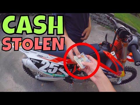 Cash Stolen On Dirt Bike
