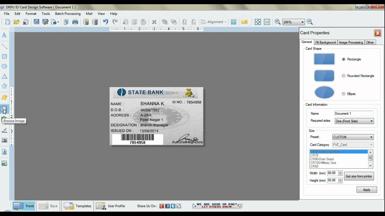 easily creating professional id cards in bulk youtube