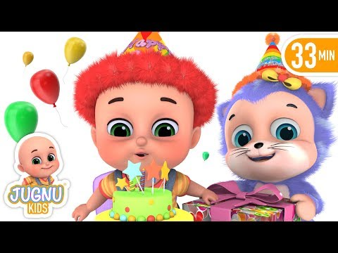 Happy Birthday Song in Hindi - Janamdin Aaya Hai - Hindi Rhymes for Children by Jugnu kids