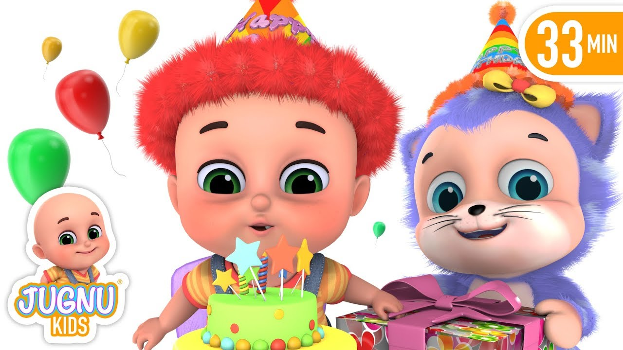 Happy Birthday Song in Hindi - Aaj Janamdin Aaya Hai | Hindi Rhymes for  Children by Jugnu kids
