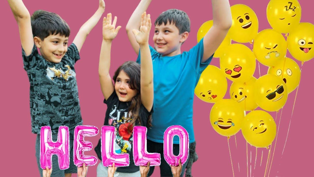 Su ve Tarabya Kankaları Eğlenceli Balonlarla Alfabeyi Öğreniyorlar|Su Learning the Alphabet|Fun Kids