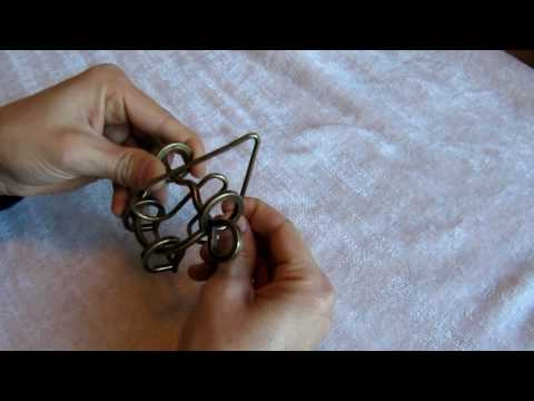 Heart and Loops Wire Disentanglement Puzzle (Part 2)