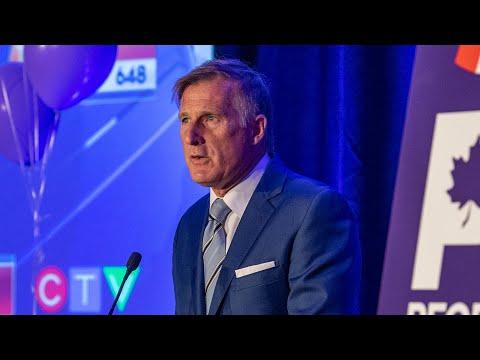 Maxime Bernier's speech after his election defeat