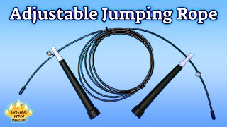 Item review - Adjustable jumping rope(This is a video review I made for an adjustable jumping rope I purchased from Aliexpress. Its a great item for a great price, since the same product is sold in my ..., 2016-01-28T18:35:20.000Z)