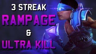 3 STREAK RAMPAGE & ULTRA KILL (SingSing Dota 2 Highlights #1166)