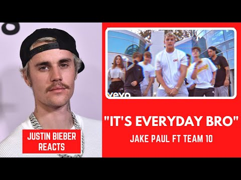 Thumbnail: Justin Bieber Reacts To Jake Paul - It's Everyday Bro (Song) feat. Team 10