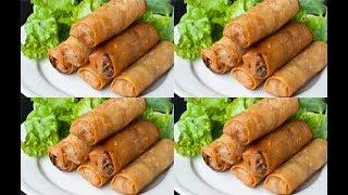 طريقة عمل اصابع الجلاش بشاورما اللحمة - سبرنج رول  cooking  recipes  food - Mai Ismael Channel