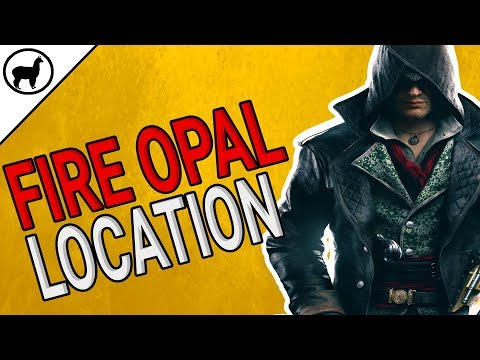 How to Find Fire Opal Location | Assassins Creed Syndicate | Unique Material | Thames Locked Chest