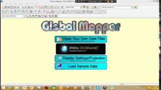 Exporting Elevation Data to a XYZ File Global Mapper