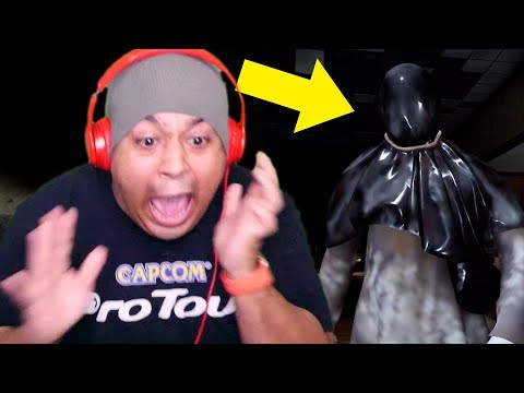 DUDE GOT A 50 GALLON SIZED GARBAGE BAG OVER HIS HEAD!! RUN!!! [BLAME HIM] [HORROR GAME DEMO]