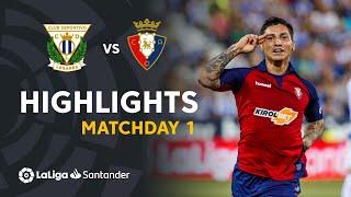 Highlights CD Leganés vs CA Osasuna (0-1)
