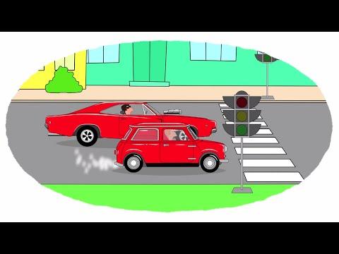 Мультик - Раскраска. Учим Цвета - Самые маленькие автомобили - Часть 1