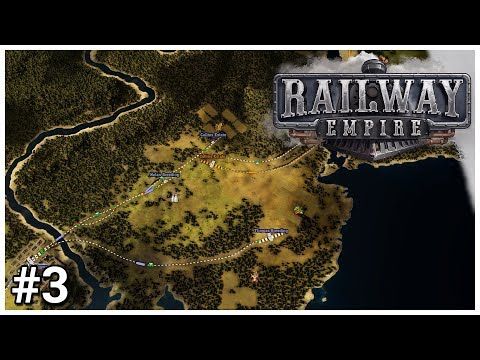 Railway Empire [Beta] - #3 - Competitors - Let's Play / Gameplay / Construction
