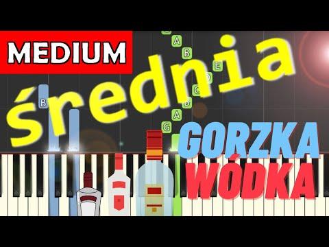 🎹 Gorzka wódka - Piano Tutorial (średnia wersja) 🎹