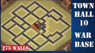 Clash of Clans Town Hall 10 War Base - 275 Walls + 2 Air Sweepers