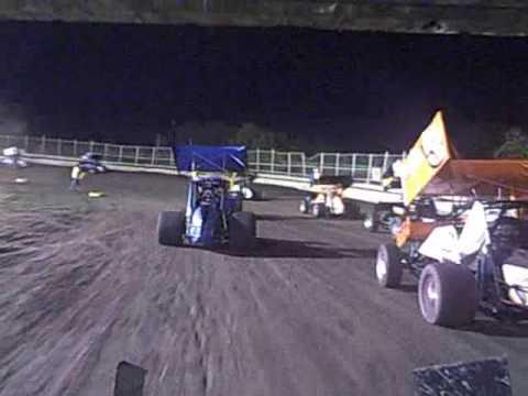 creek county speedway sprint car Feature Brent Bates #17 092209
