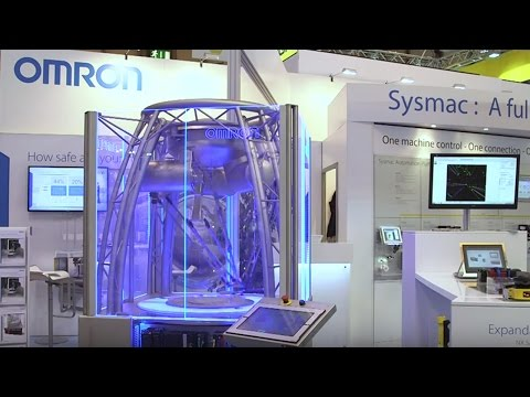 Omron  Robotics demo at the PPMA show 2015