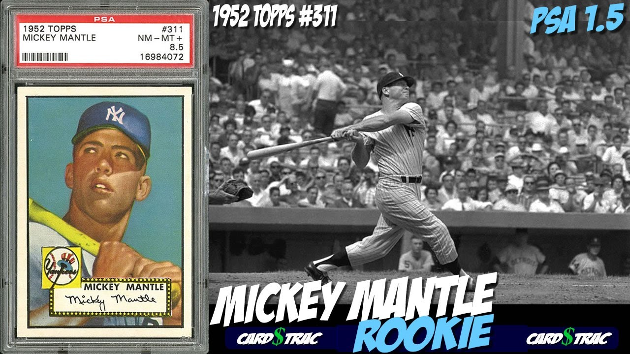 1952 Mickey Mantle Topps 311 Rookie Card For Sale Graded Psa 15